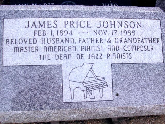 Надгробие на могиле джазового пианиста