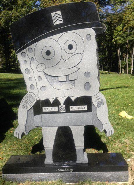 Памятник в форме Спанж-Боба
