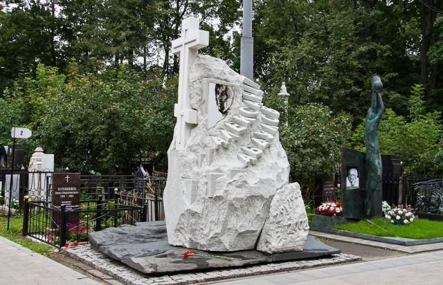 Ваганьковское кладбище - могилы знаменитостей. Памятник А.Абдулову.