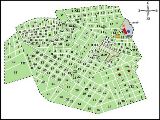 Северное кладбище СПб: план-схема захоронений
