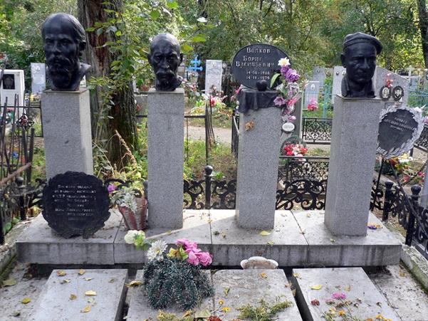 Могила художника Б. В. Волкова