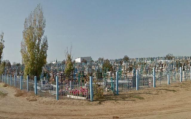 Вид на захоронения кладбище