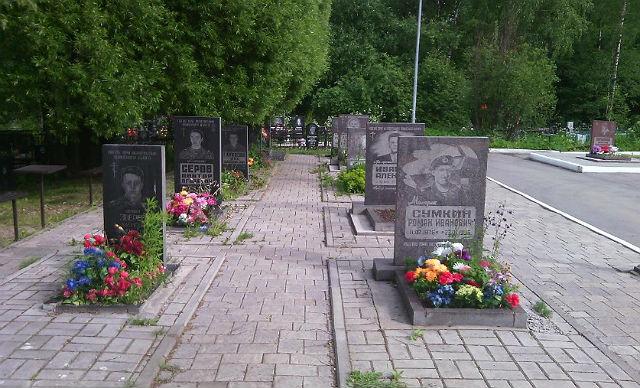 Здесь похоронены военнослужащие, погибшие при исполнении служебного долга