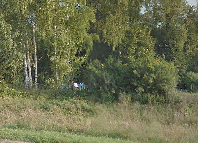 Вид на кладбище Грабченки с автодороги, ведущей в деревню Грабченки
