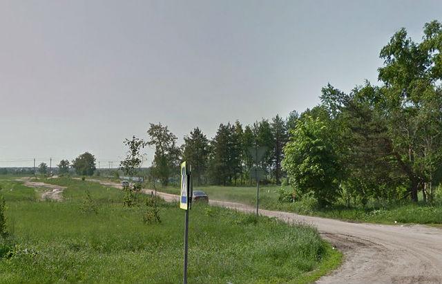 Дорога, ведущая на Обуховское новое кладбище (съезд с Горьковского шоссе)